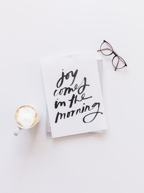 koffie en aan het werk